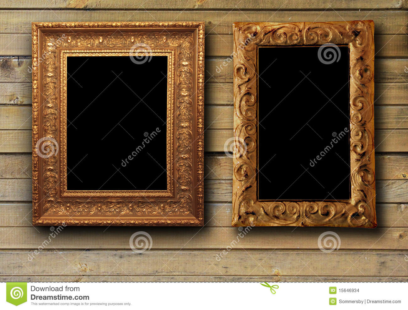 brown wood texture with picture frames
