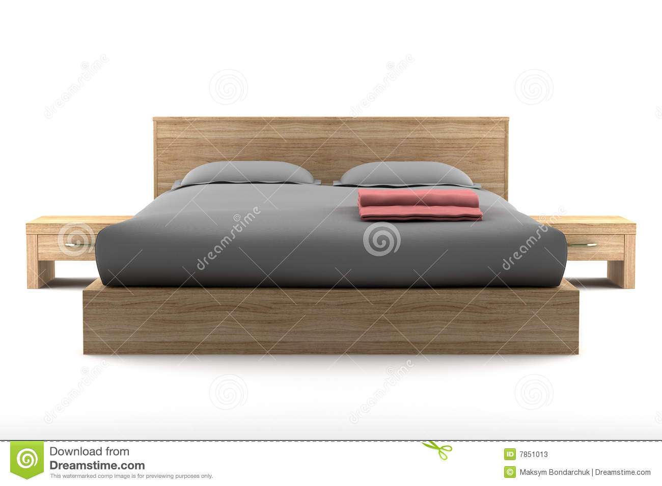 Very Impressive portraiture of Brown Wooden Bed Isolated On White Stock Photos Image: 7851013 with #85A724 color and 1300x956 pixels