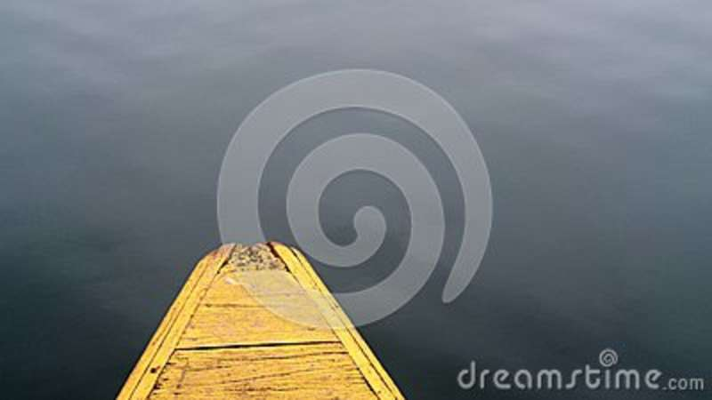 Download Brown Wooden Boat On Body Of Water Stock Photo - Image of ocean, photo: 83015534