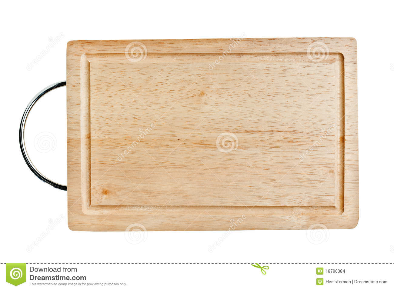 Exceptional Wooden Chopping Board With Handle #1: Brown-wooden-chopping-board-metal-handle-18790384.jpg
