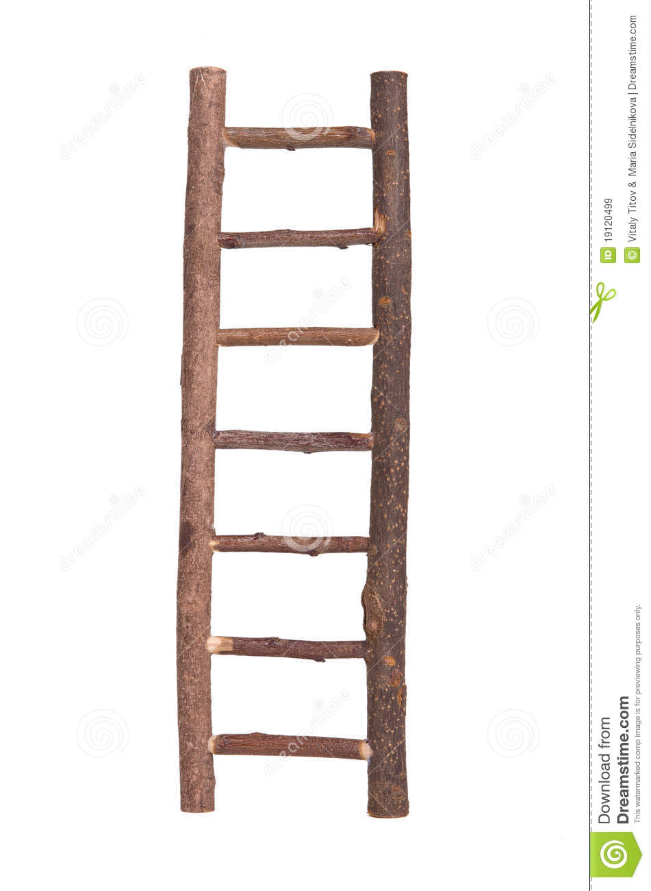 Brown Wooden Ladder Isolated Royalty Free Stock Images - Image ...