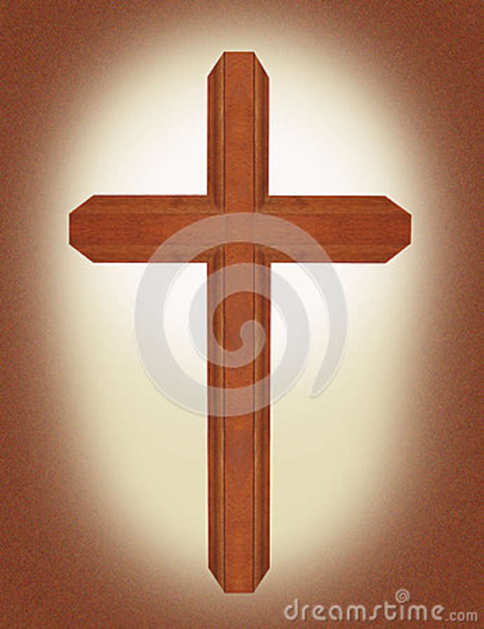 Brown Wooden Ornate Walnut Cross With Parchment Background Christian