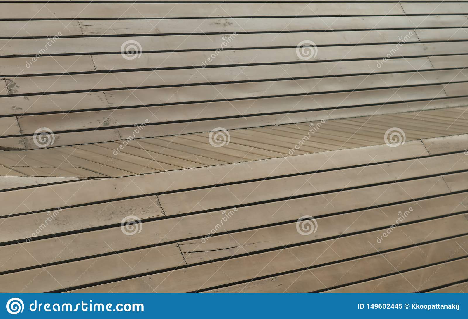 Brown wooden panel use as background or wallpaper