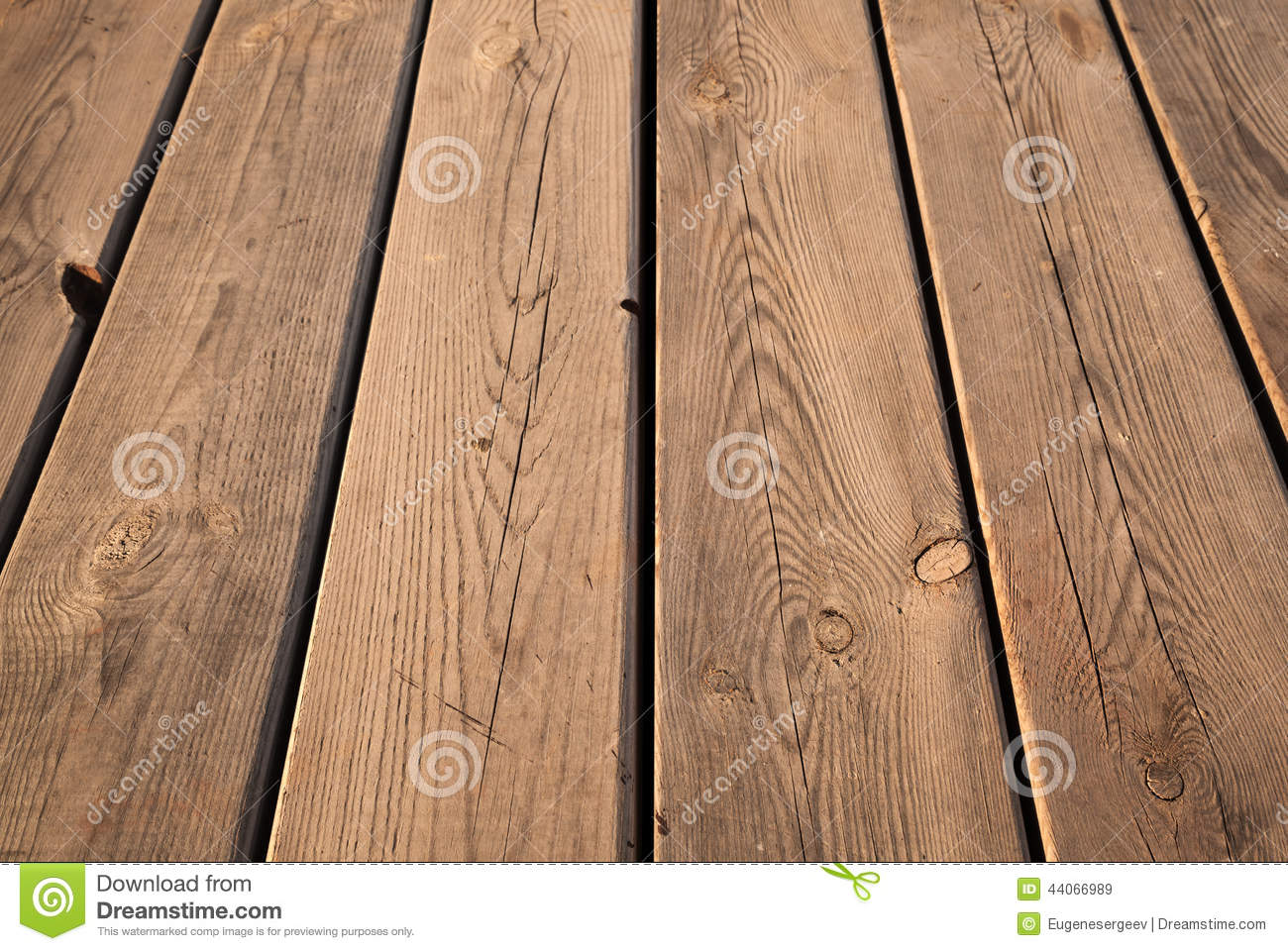 Brown Wooden Table Background Texture With Perspective Stock