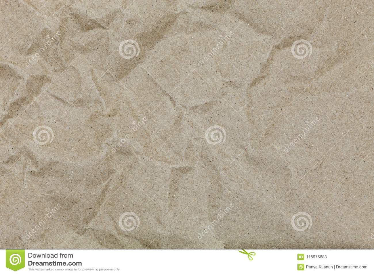 Brown wrinkle recycle paper for design and background.