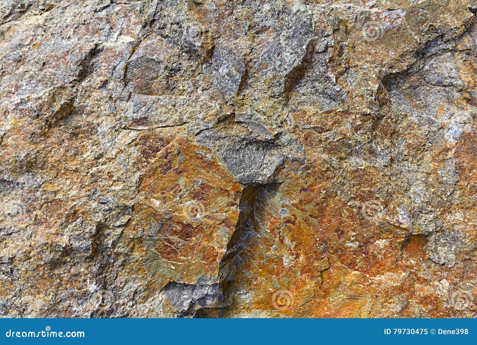 Brown y textura gris de la roca