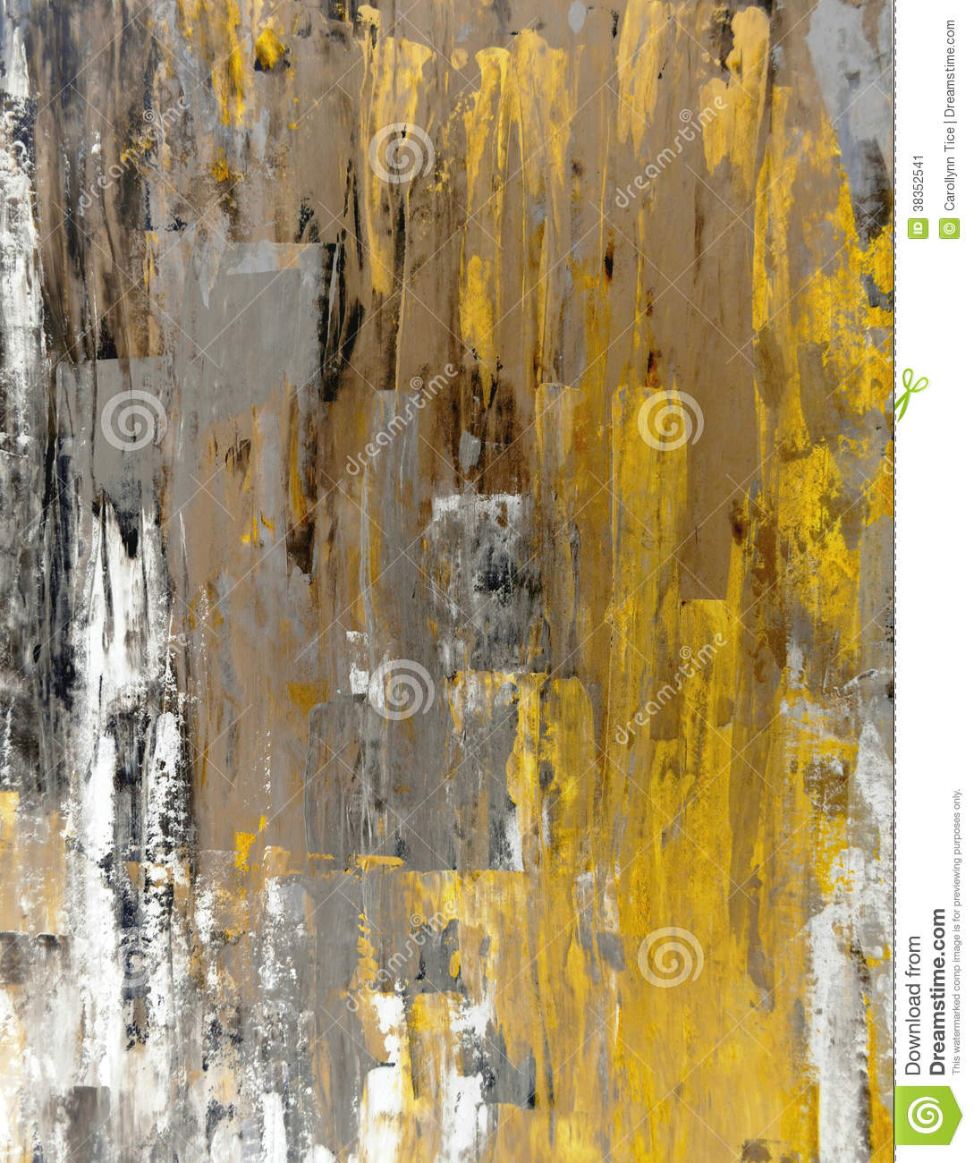 Brown And Yellow Abstract Art Painting Stock Image - Image ...Yellow Abstract Painting