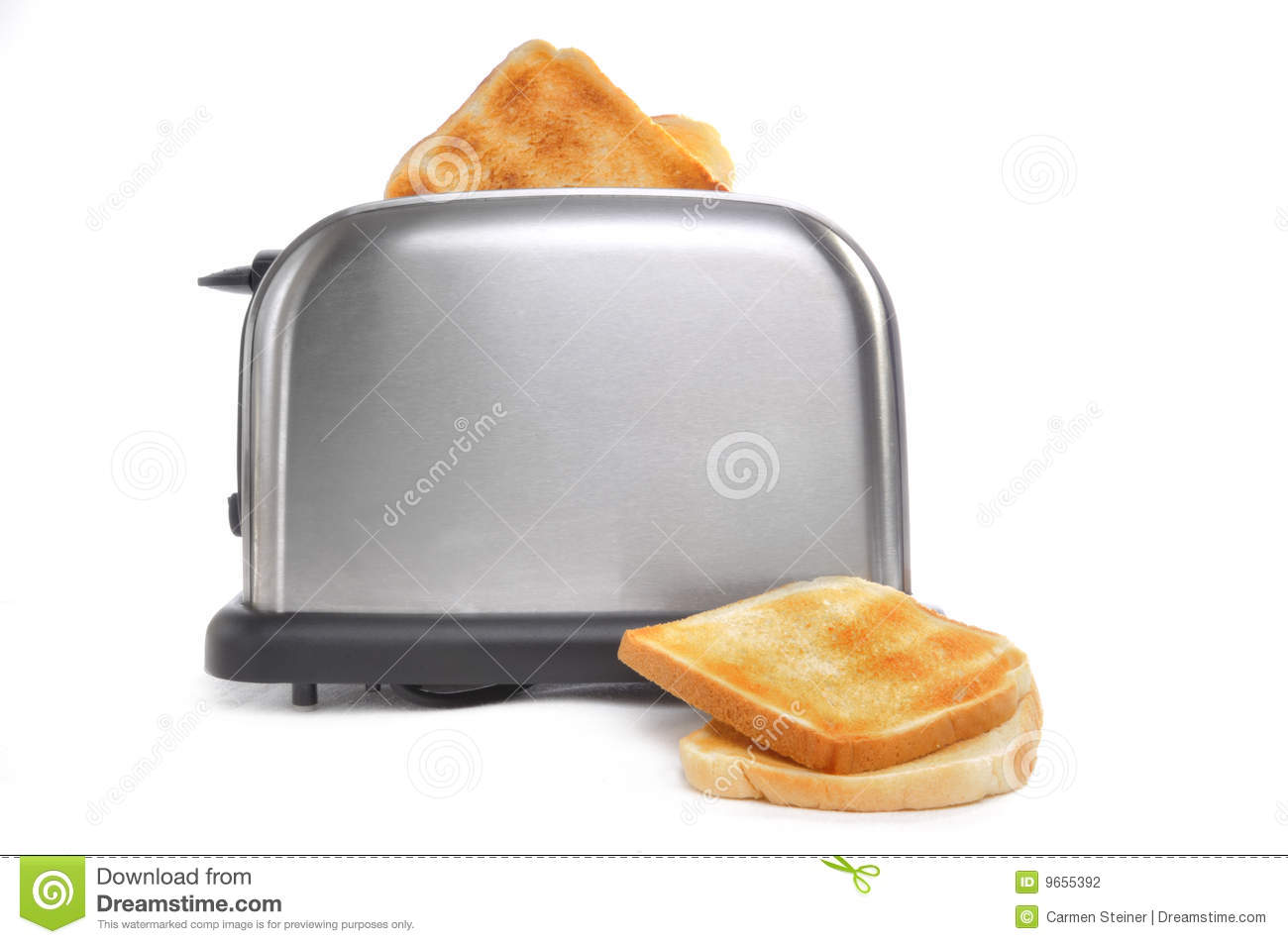 Toast In Toaster ~ Browned toast in toaster stock photography image