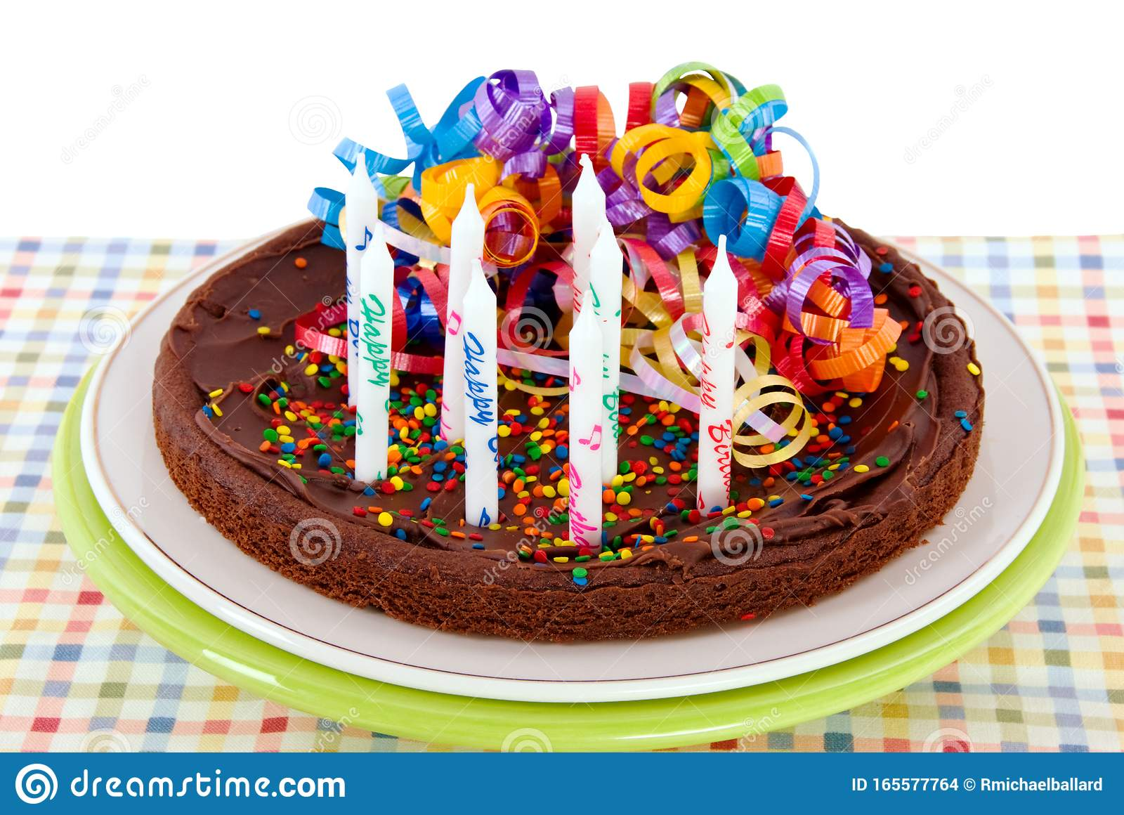 Awe Inspiring Brownie Birthday Cake With Copy Space Stock Photo Image Of Green Funny Birthday Cards Online Fluifree Goldxyz