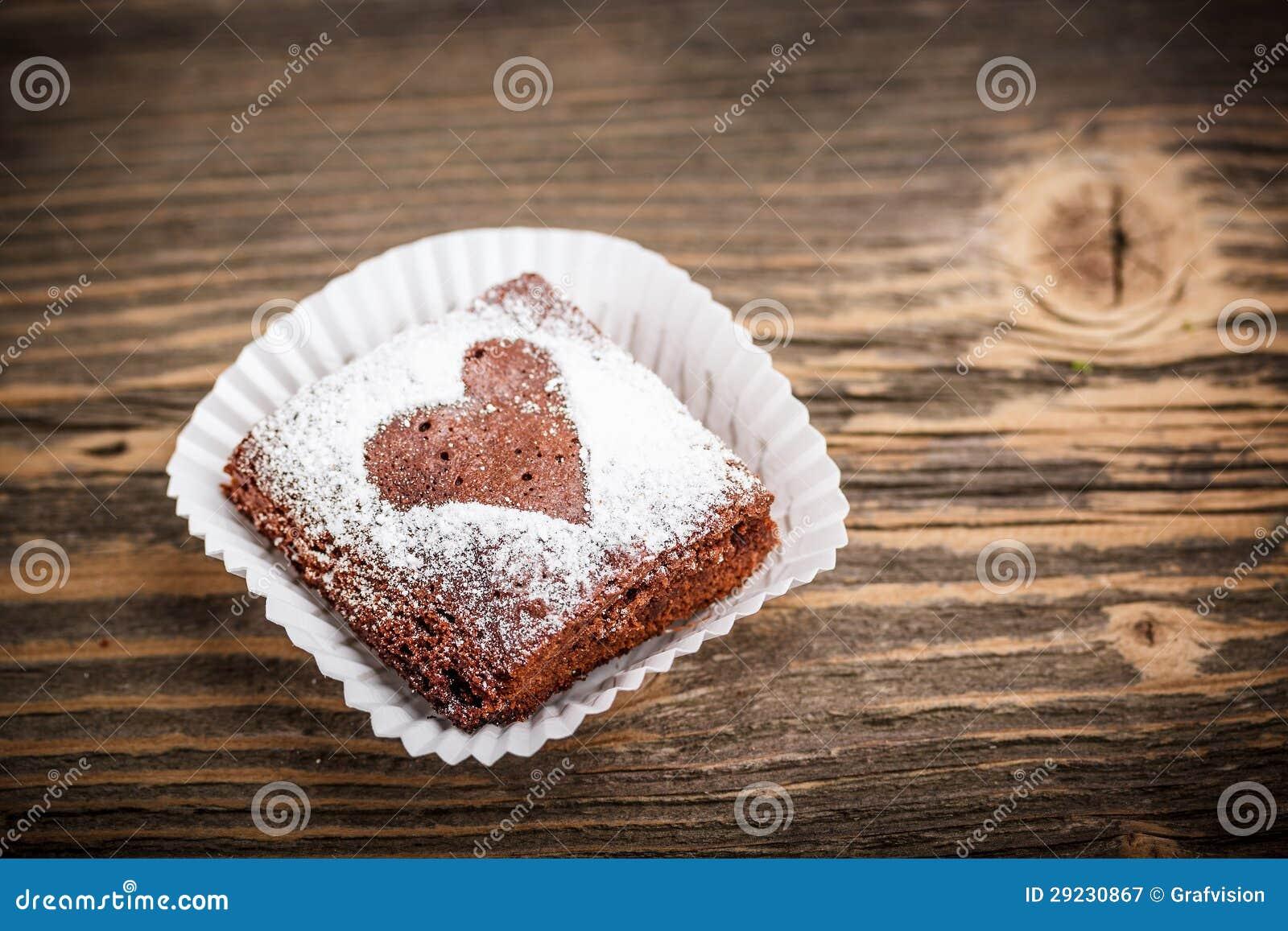 Download Brownie do chocolate imagem de stock. Imagem de shaped - 29230867
