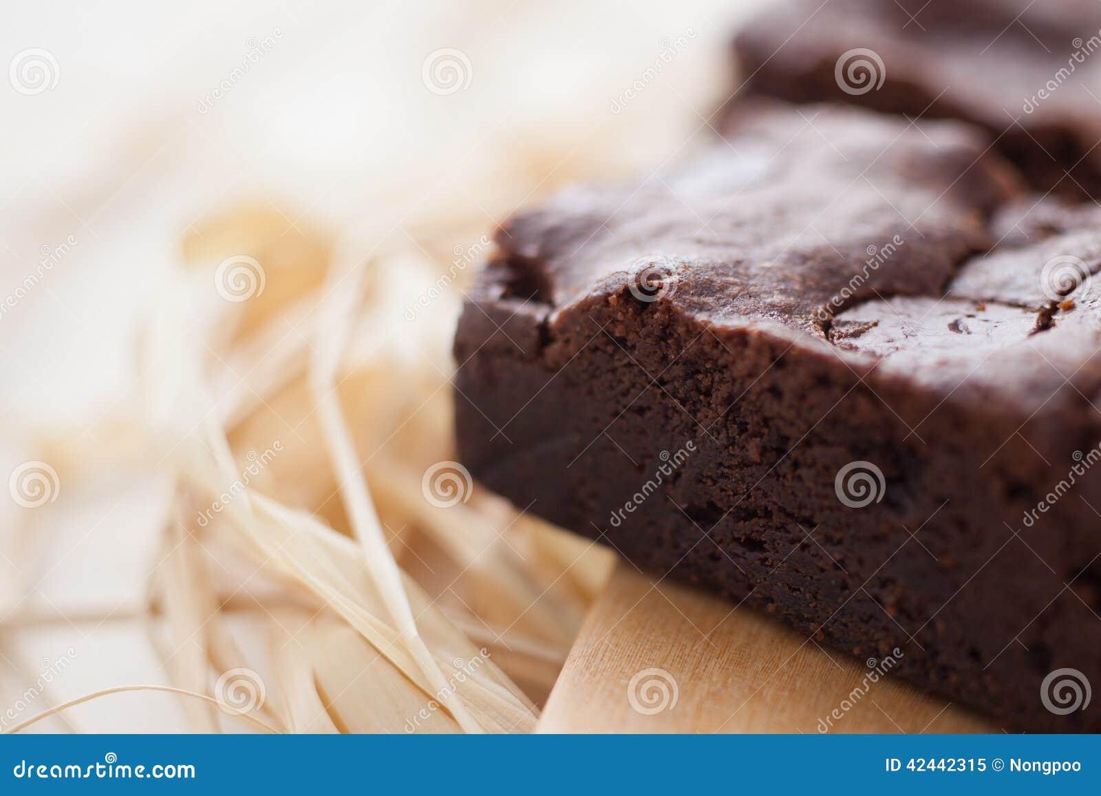 Brownie hechos en casa del dulce de azúcar cauchutoso