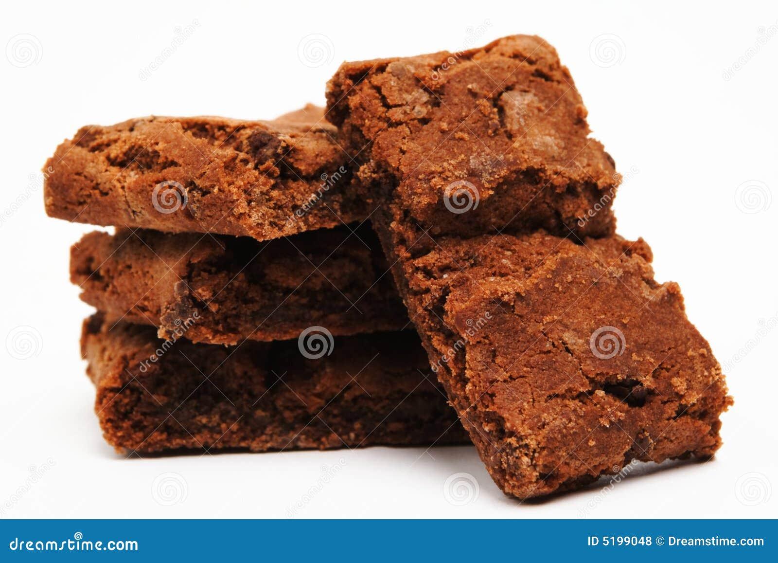 Brownies no branco