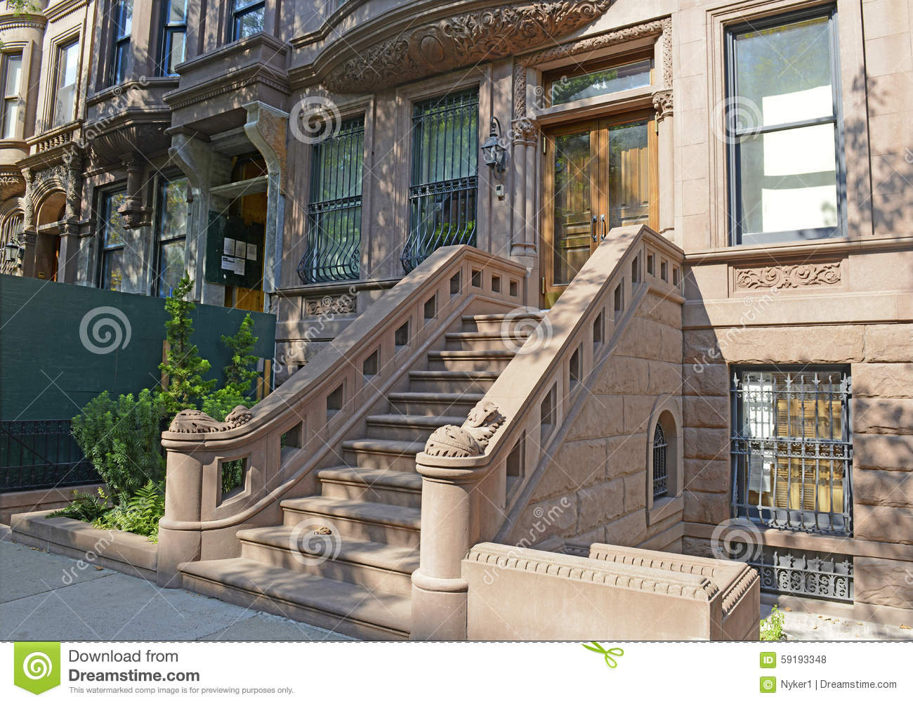 Brownstone Apartment Building New York