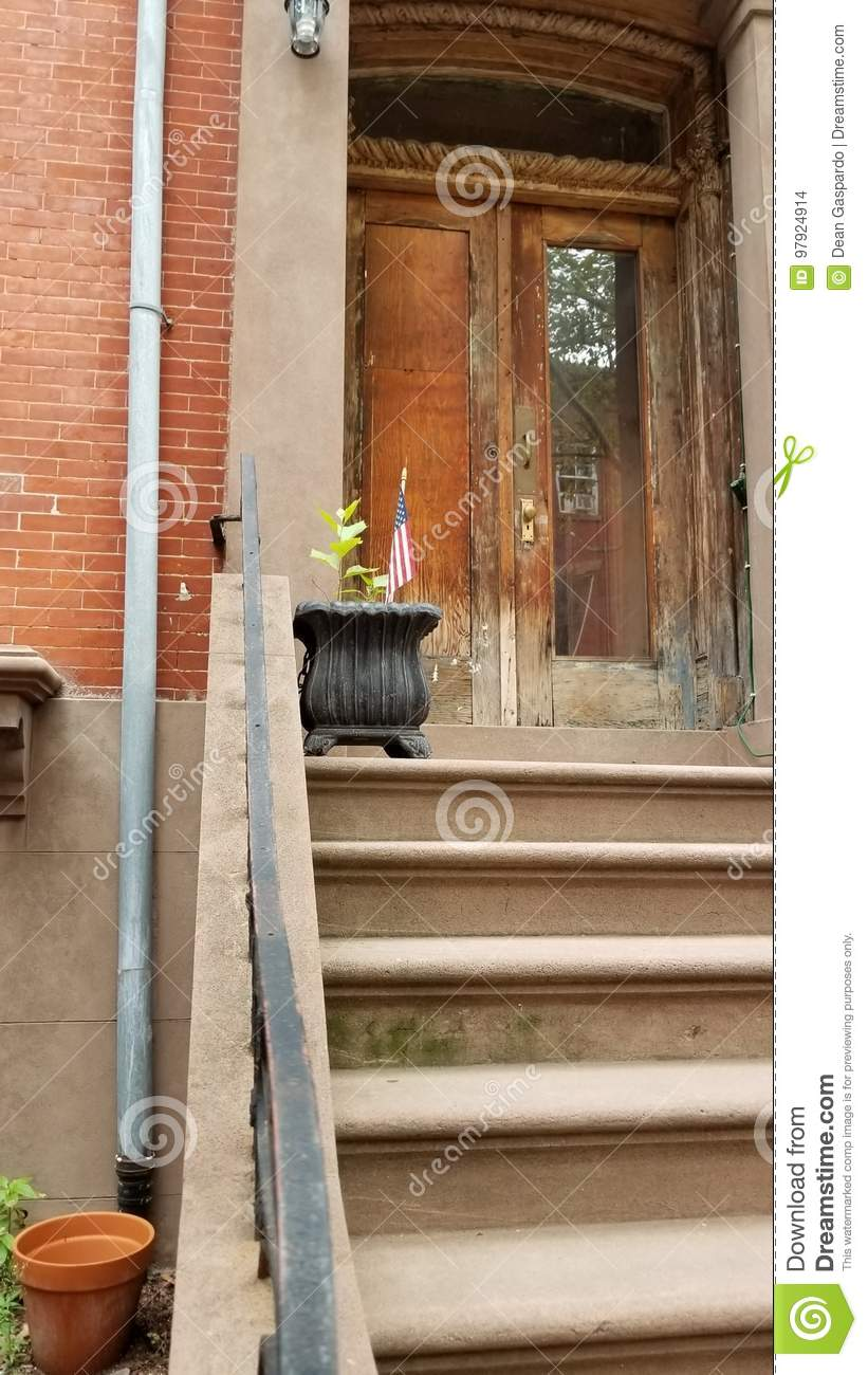Brownstone Home In Carroll Gardens Brooklyn Stock Photo - Image of ...