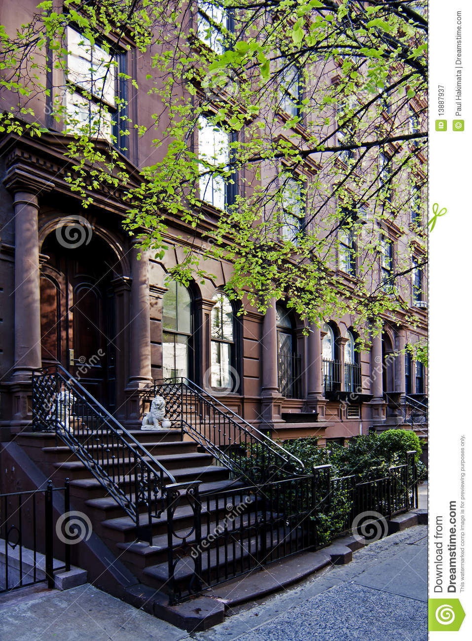Brownstone townhouse royalty free stock photography for Brownstone townhouse plans