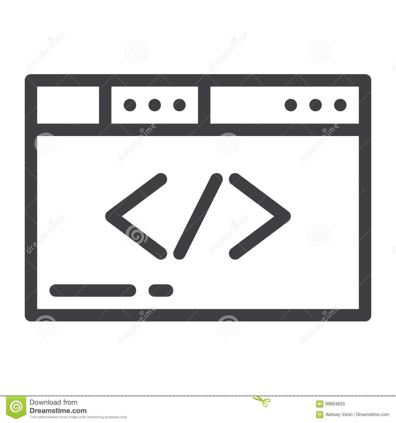 Browser line icon