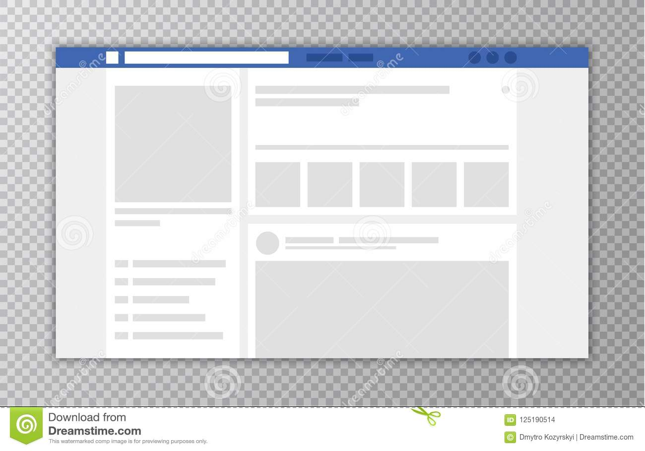 Browser window with web page concept of social media interface download browser window with web page concept of social media interface template user comments maxwellsz
