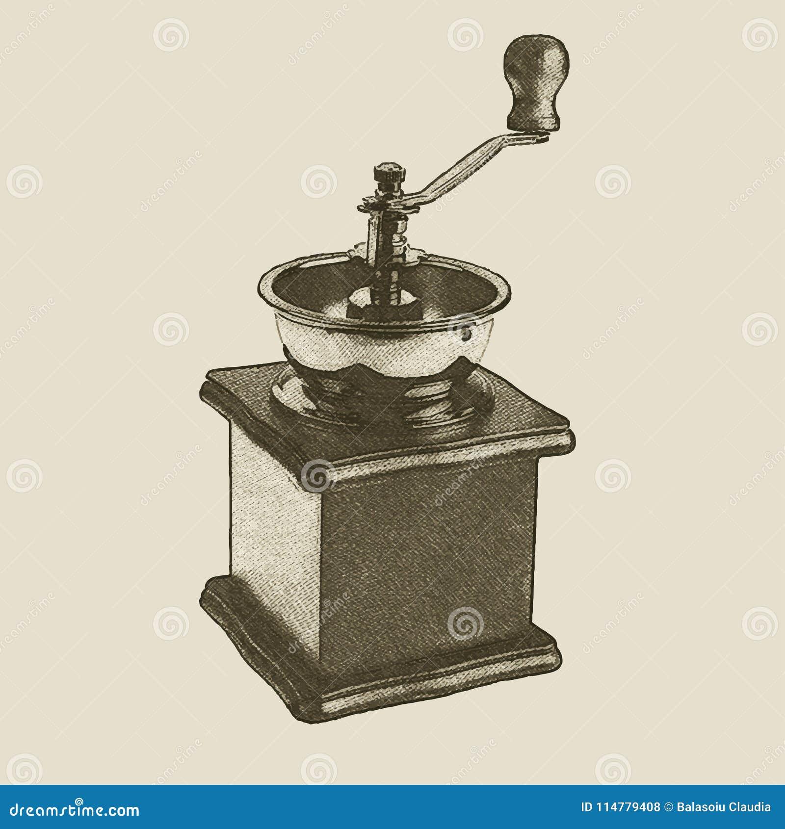 Broyeur de café tirée par la main de vintage