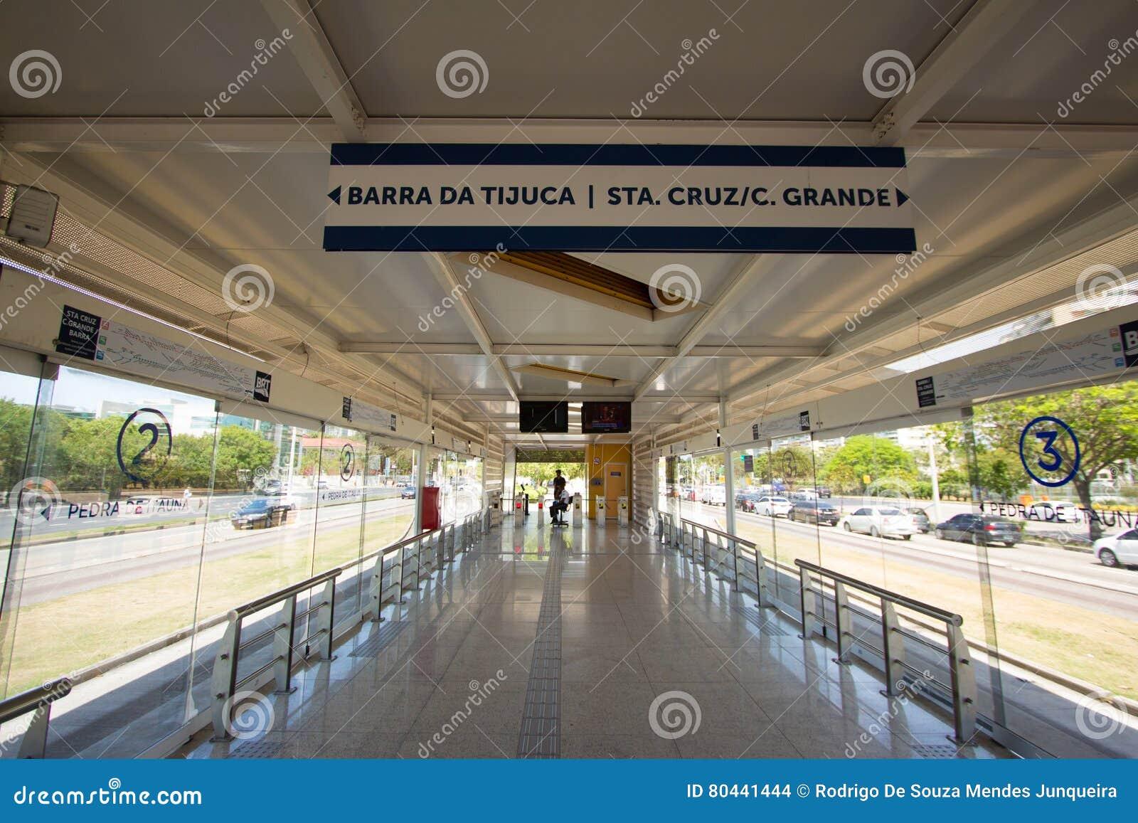 Brt Station in Barra da Tijuca