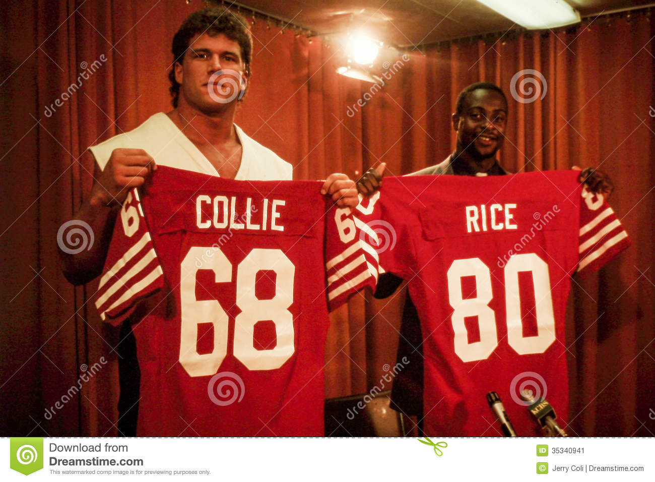 Bruce Collie et Jerry Rice 1985 drafts pick 49ers.