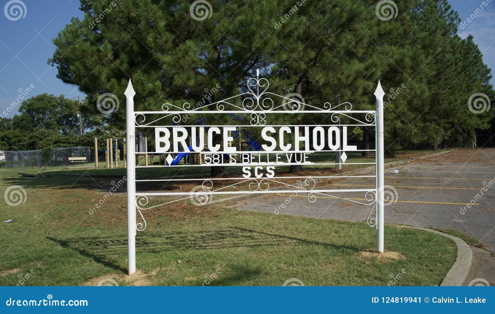 Bruce Elementary School Yard Sign Memphis, Tennessee