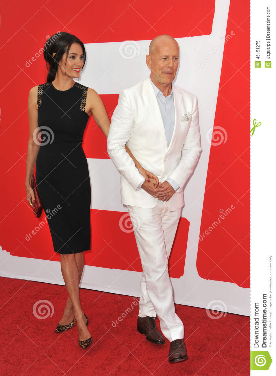 bruce willis & emma heming editorial image. image of dress - 46151275
