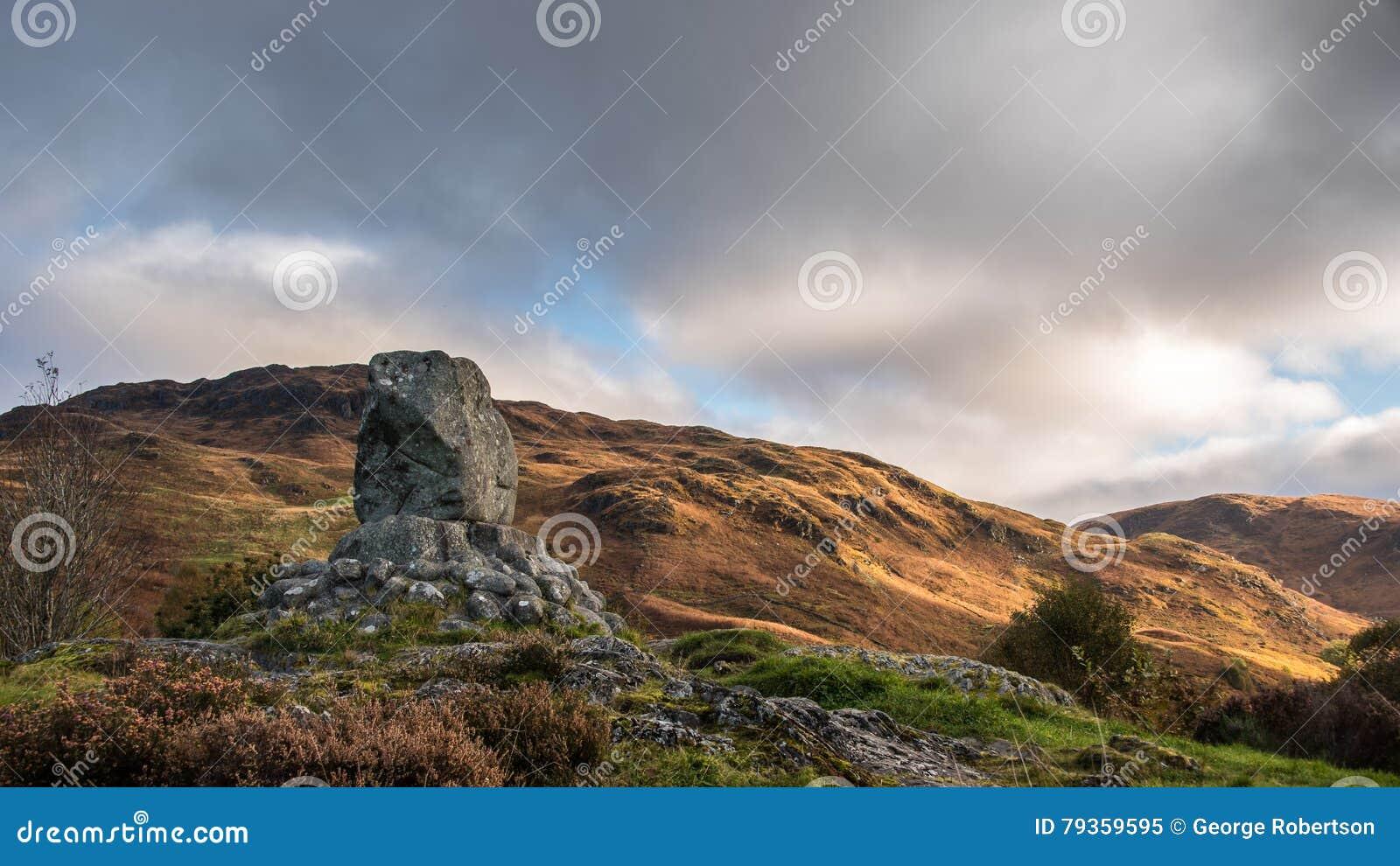 Bruces sten, Glen Trool, Skottland
