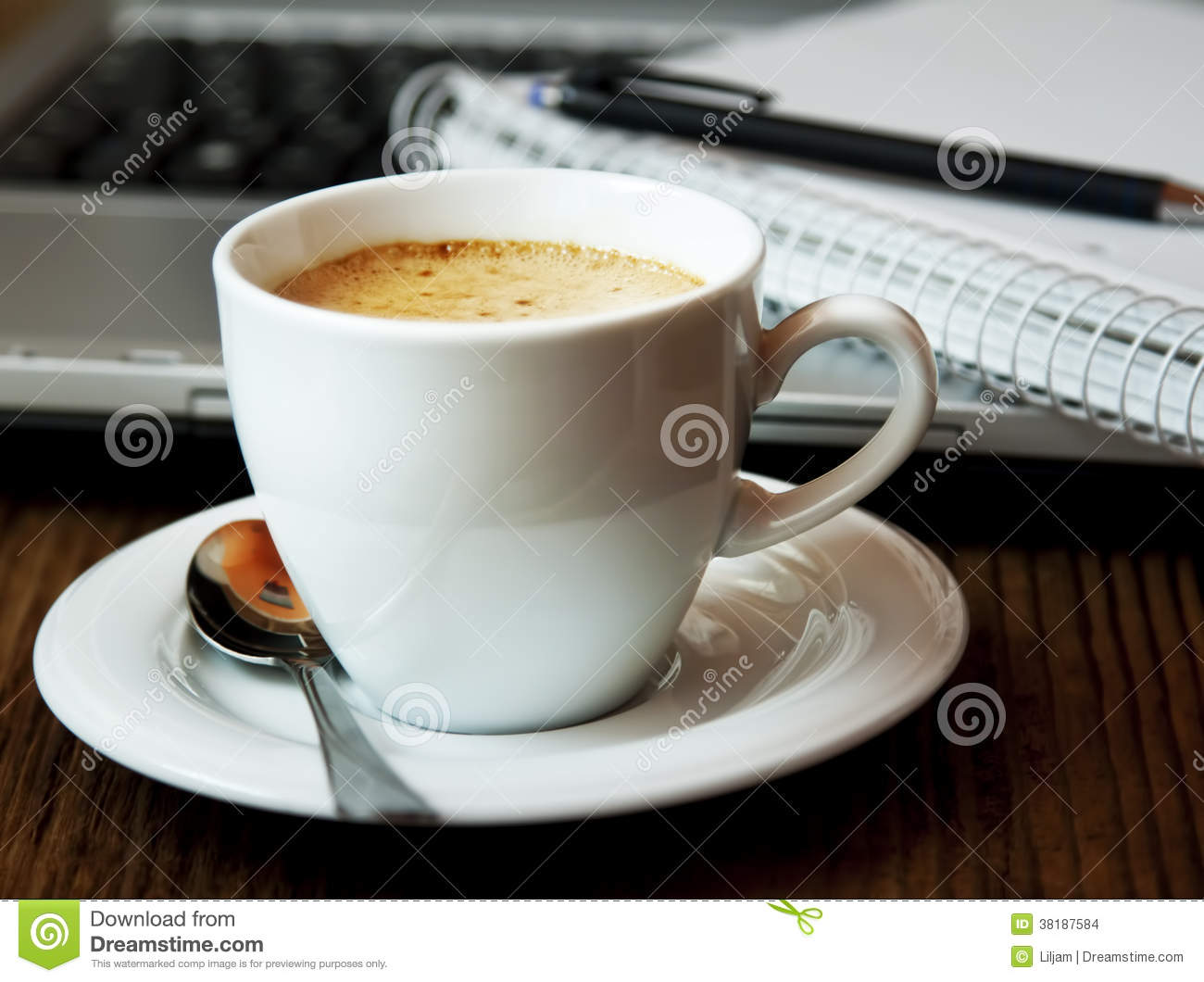 Bruch des Cappuccino-Cup.Coffee