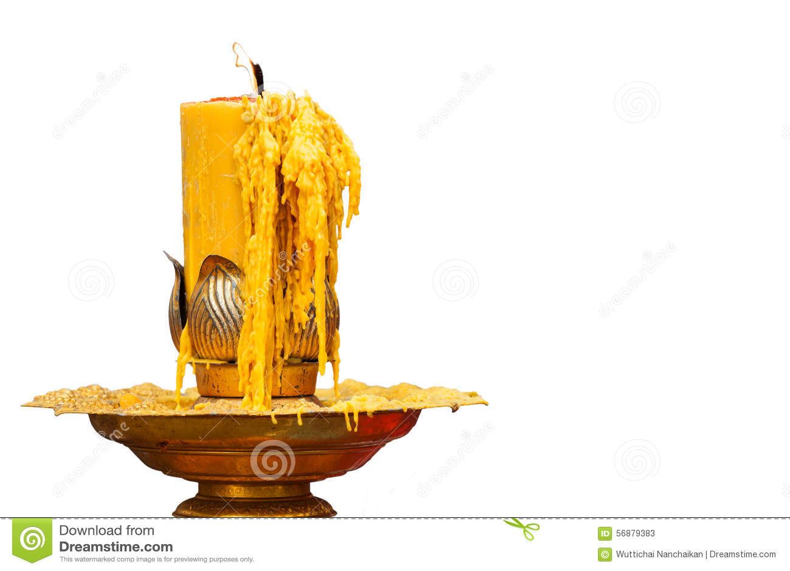 Bruciatura della candela sul candeliere