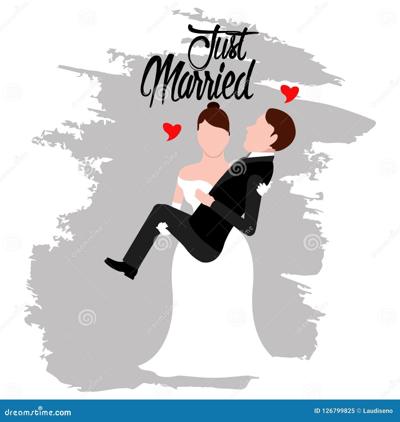 Brudgum och brud par som att gifta sig bara
