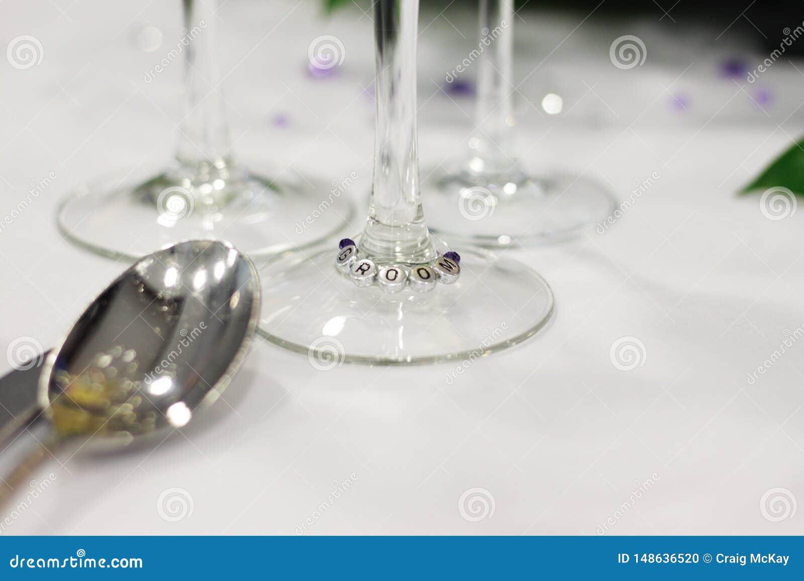 Brudgumställeinställning på bröllop