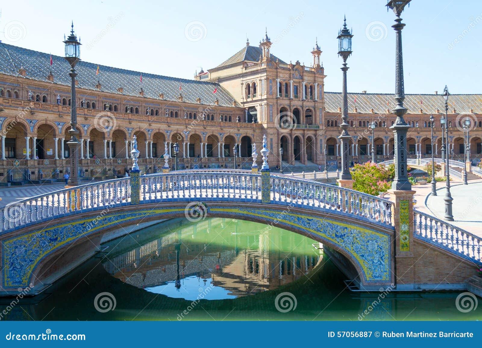 Brug bij het vierkant van Spanje