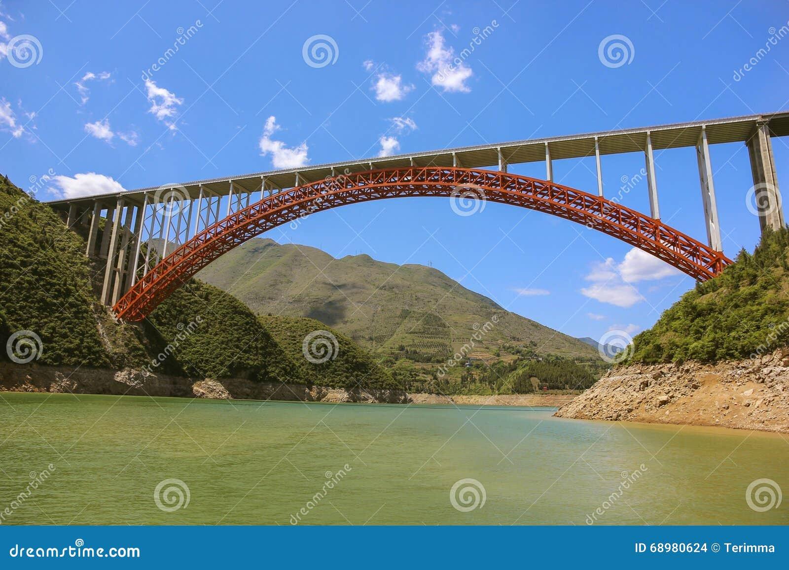 Brug op de Yangtze-Rivier