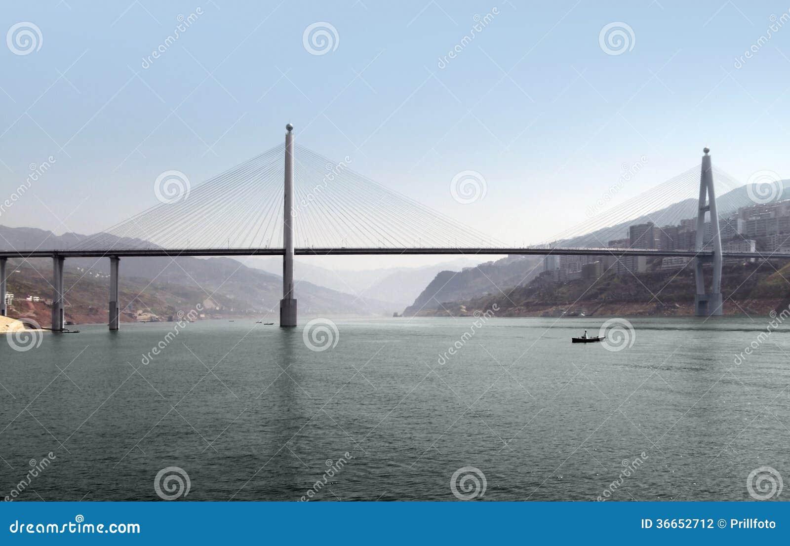 Brug op Yangtze-Rivier