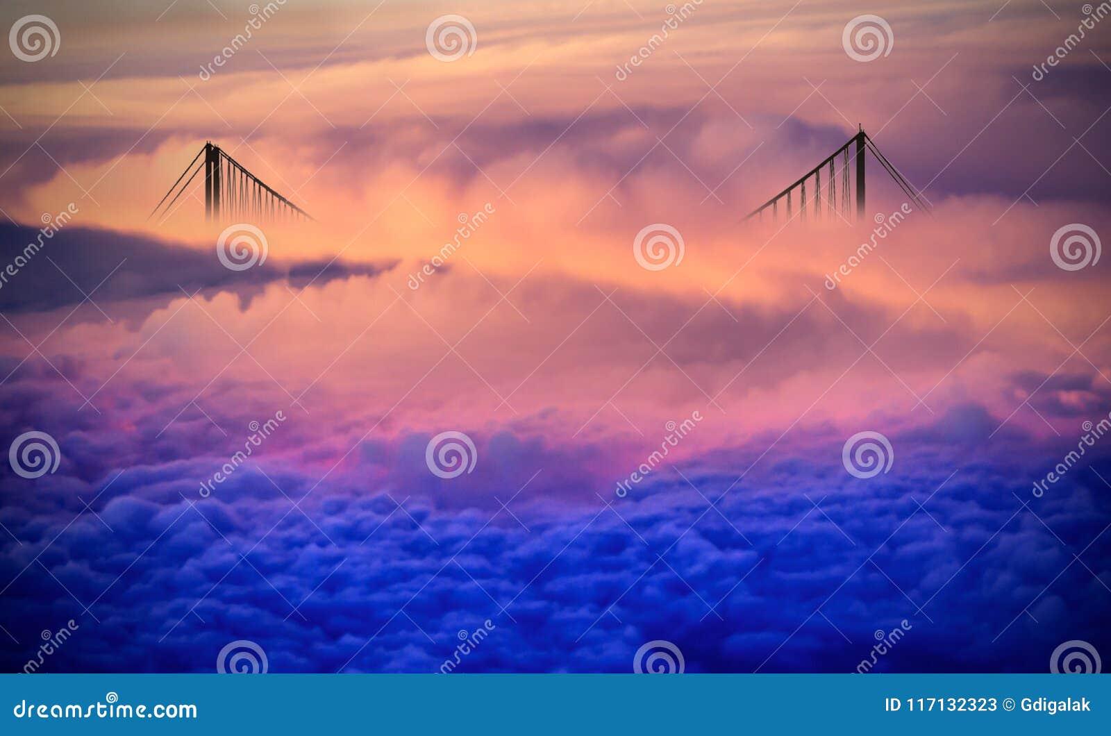 Brug over de wolken