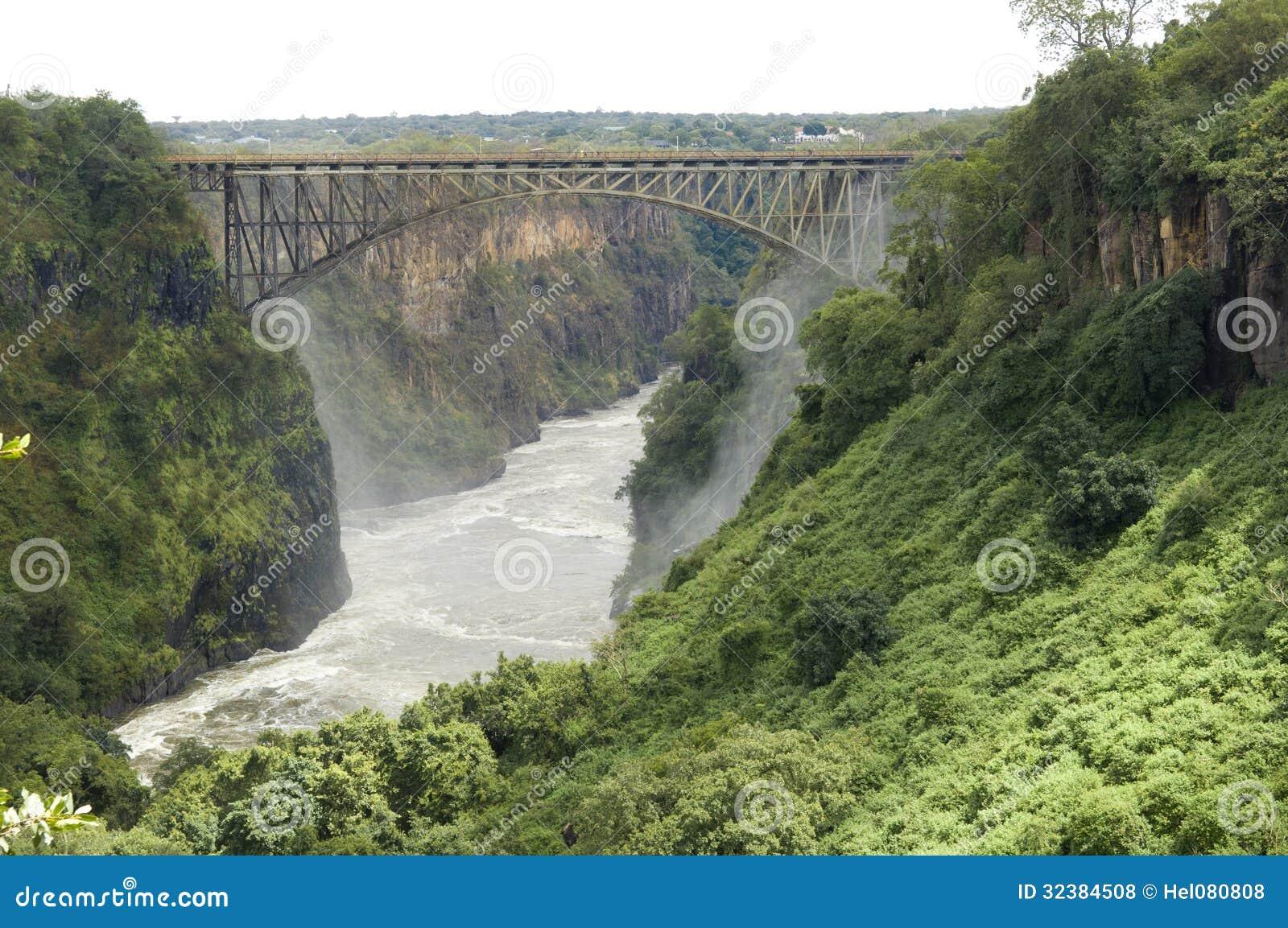 Brug tussen Zambia en Zimbabwe