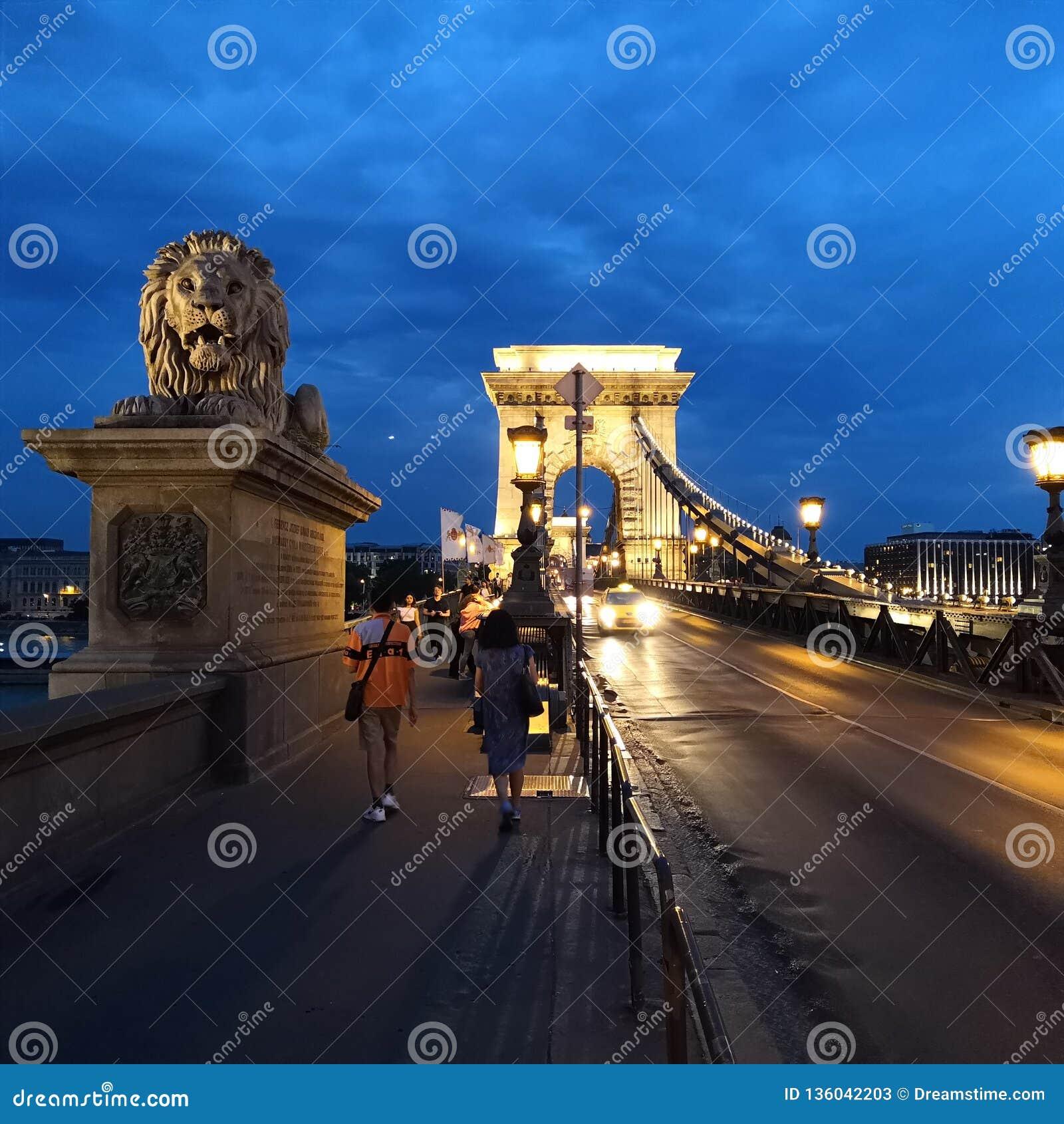 Brug van de kettingen, in Boedapest wordt gevestigd dat,
