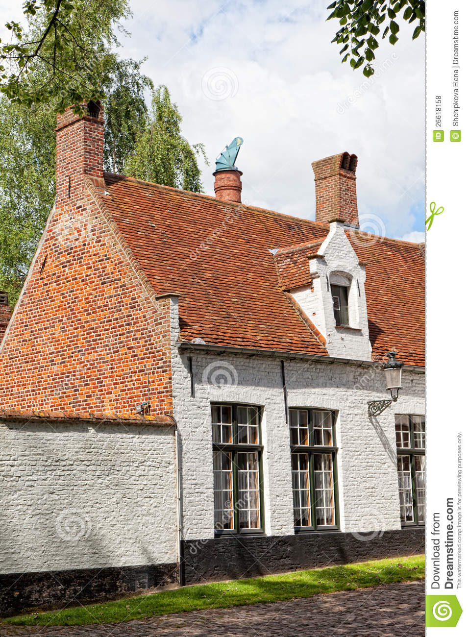 Bruges belgium royalty free stock photos image 26618158 - Small belgian houses brick ...