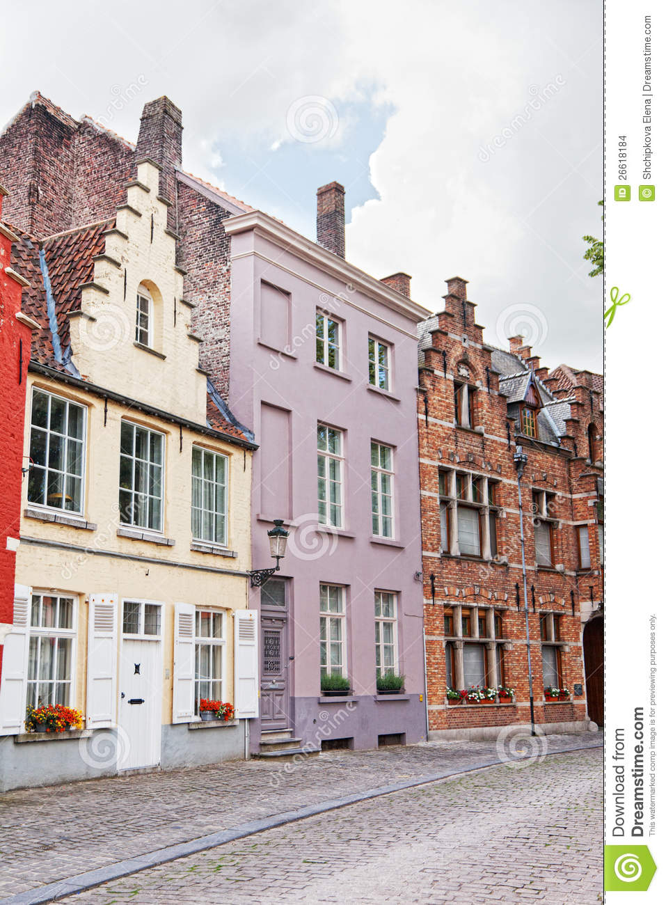 Bruges belgium stock images image 26618184 - Small belgian houses brick ...