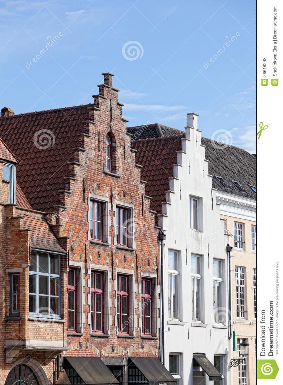 Bruges belgium royalty free stock photos image 26618248 - Small belgian houses brick ...