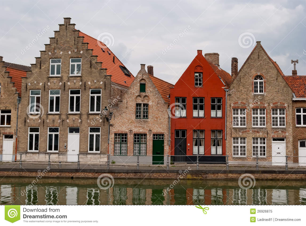 Bruges belgium houses along the channel stock image image of city belgium 26926875 - Small belgian houses brick ...