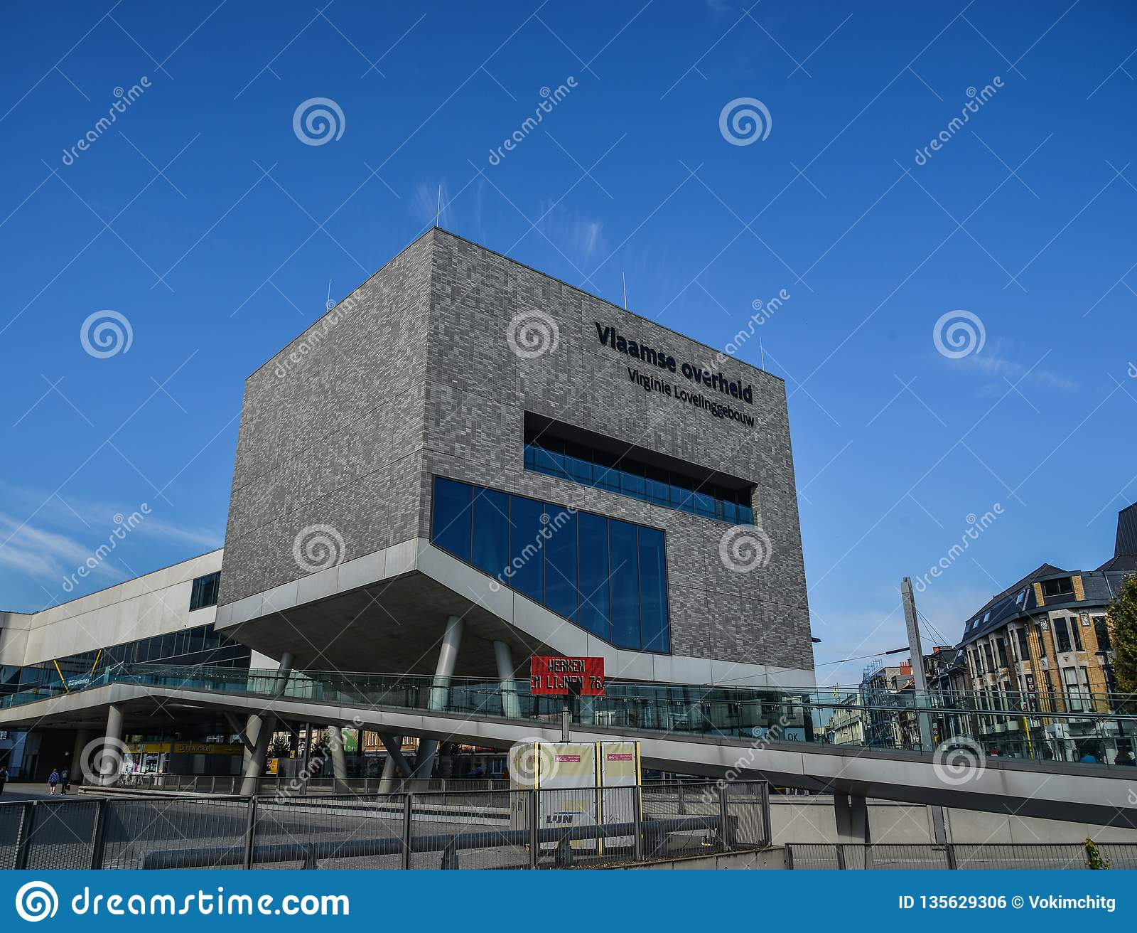 A modern building in Bruges, Belgium
