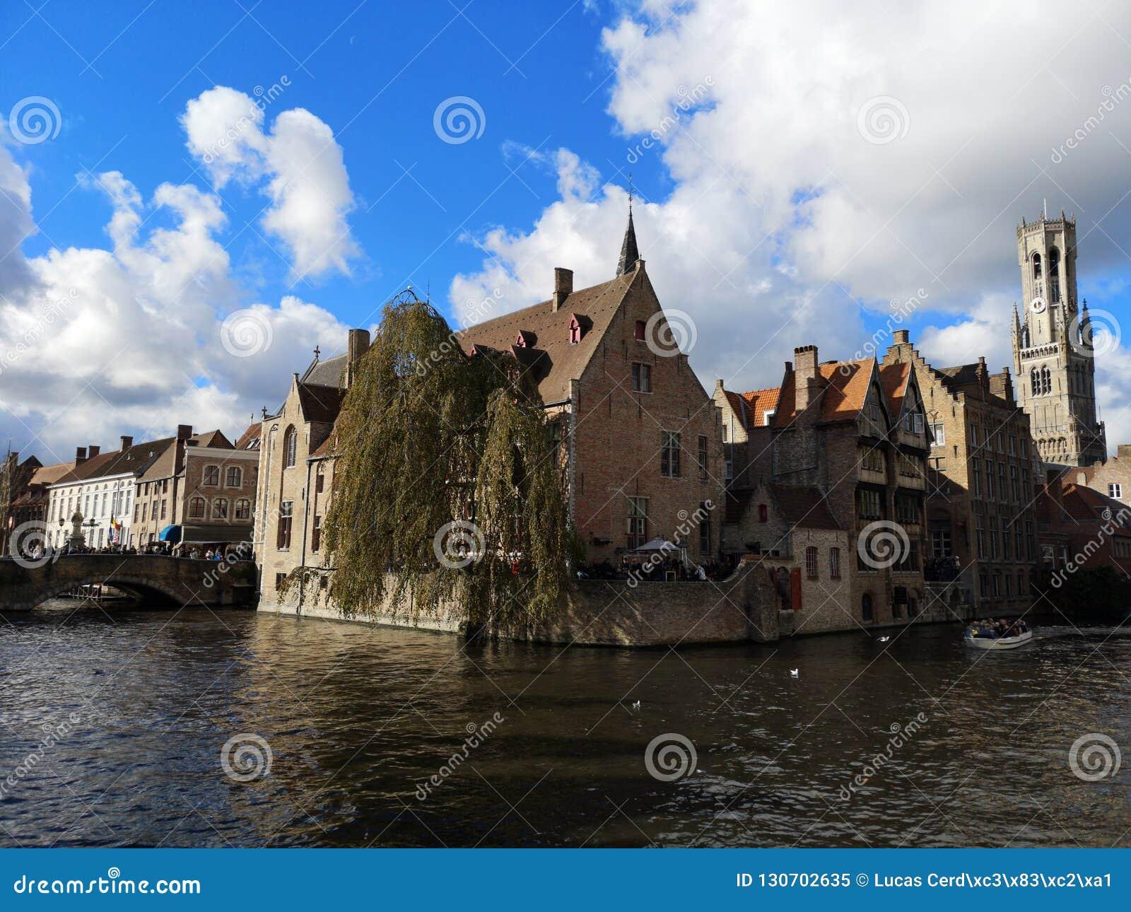 Brugge, Brugge, België Brugge, België Middeleeuwse stad De Klokketorentoren van Belfort