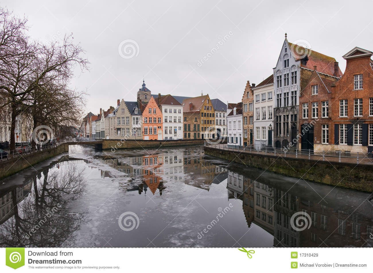 Brugge In Winter Royalty Free Stock Images Image 17310429