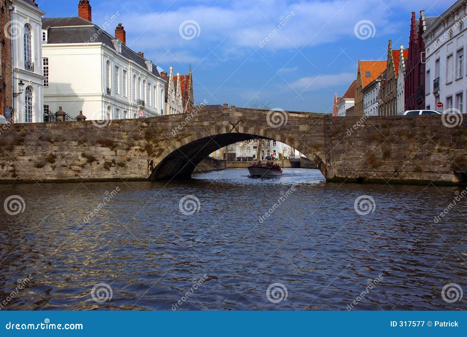 Brugia Brugge kanału widok