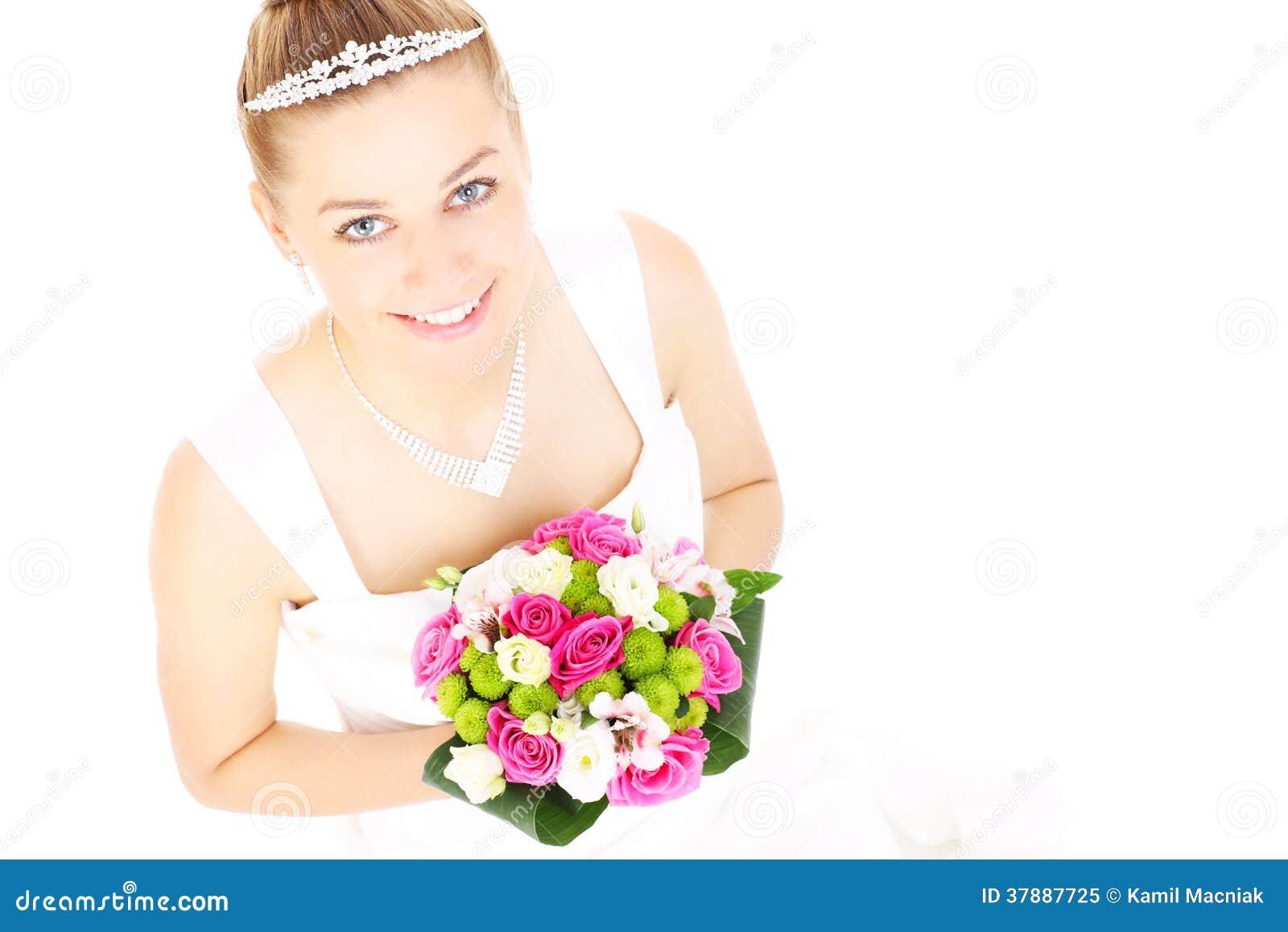Bruid en bloemen