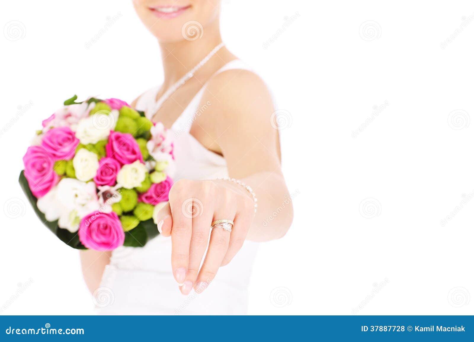 Bruid en haar ring
