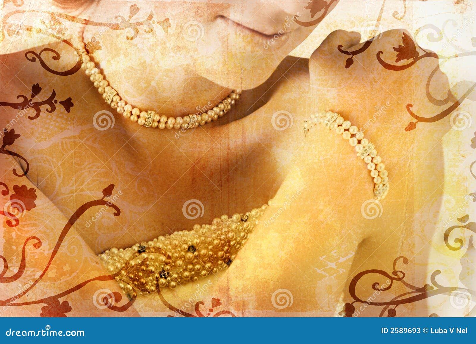 Bruid Grunge met parels
