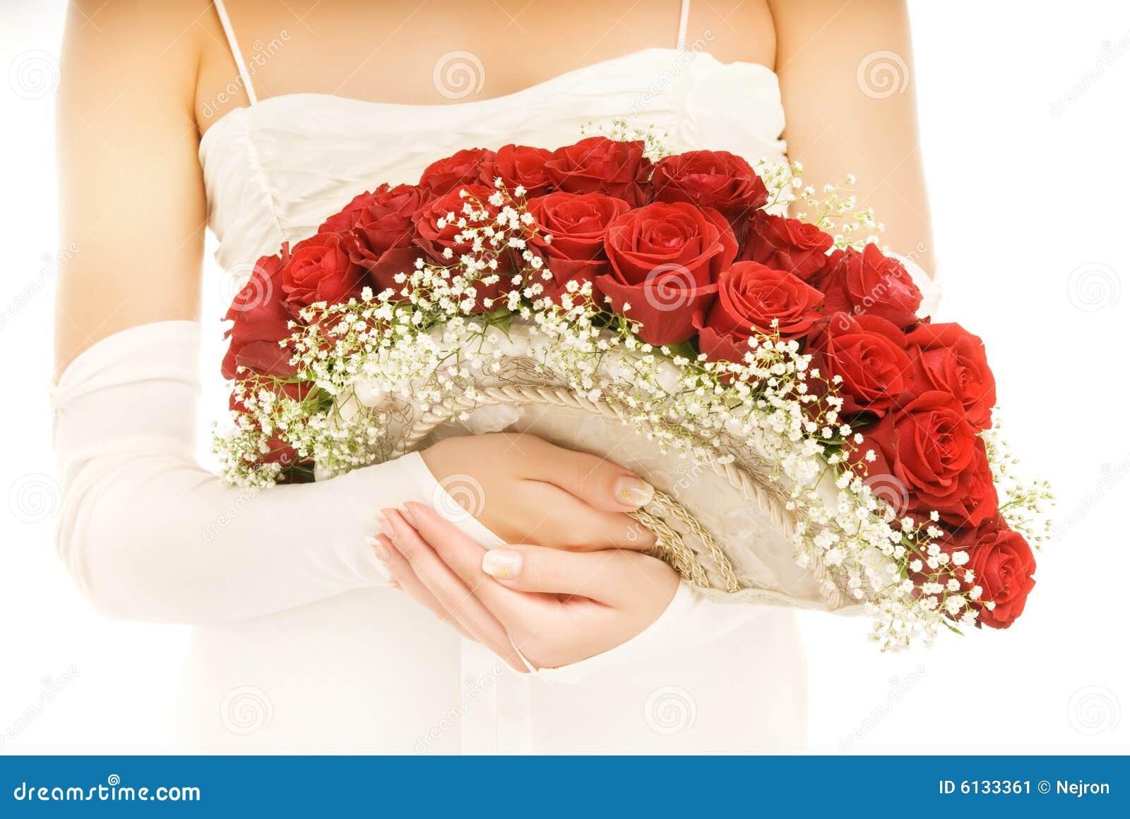 Bruid met een luxe boquet