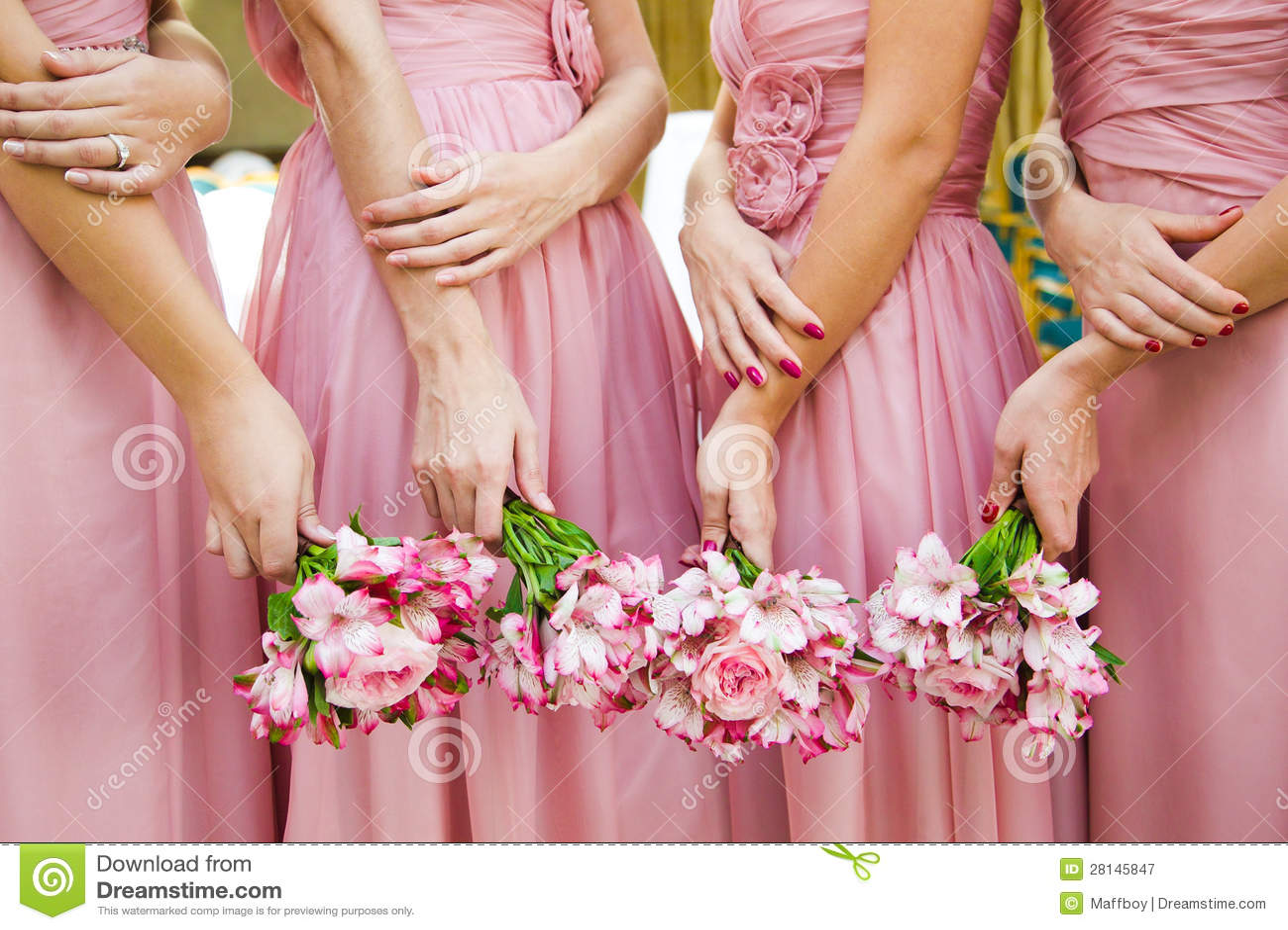 Bruids van huwelijksbloemen en bruiden boeket